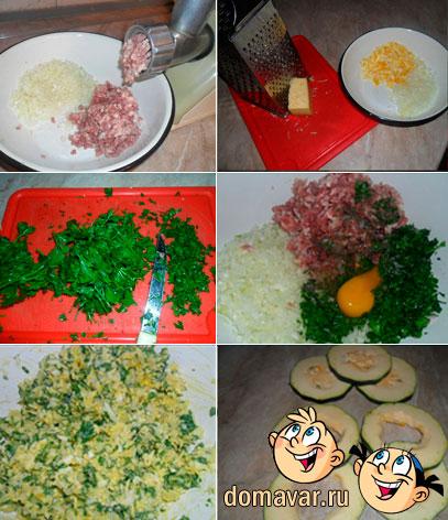 Мясные зразы с яйцом и сыром