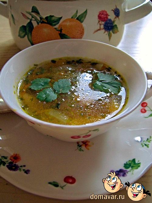 Пряный фасолевый суп