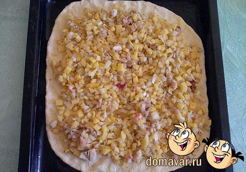 Пирог с картофельной начинкой