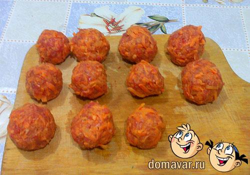 Морковные тефтели в соусе