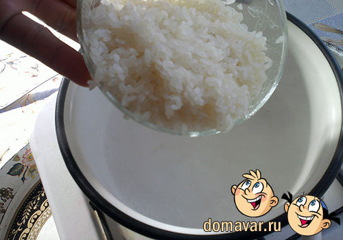 Молочная каша из риса (Ширбиринч)