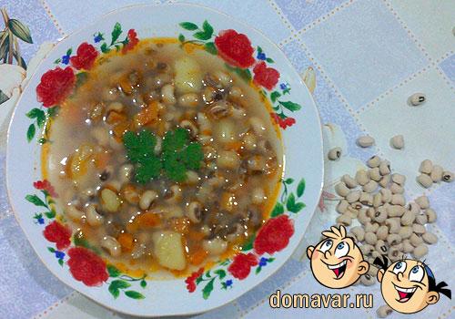 Диетический суп из белой фасоли