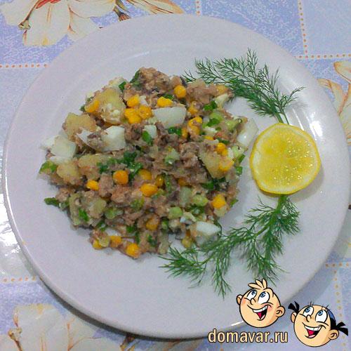 Салат из сардинеллы консервированной