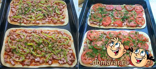 Пицца - колбасное асcорти