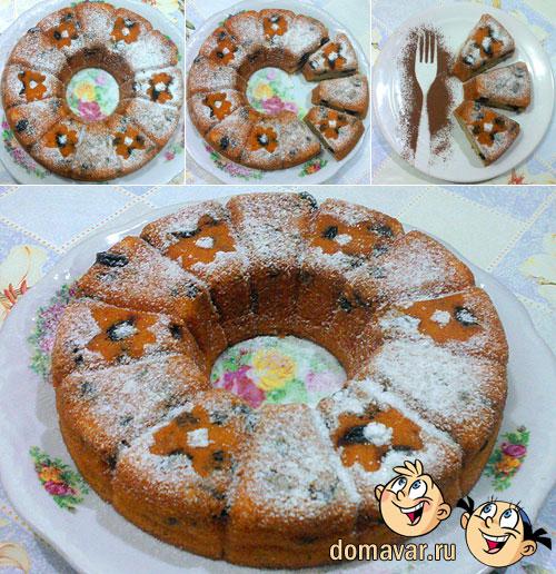 Кекс с изюмом и грецкими орехами
