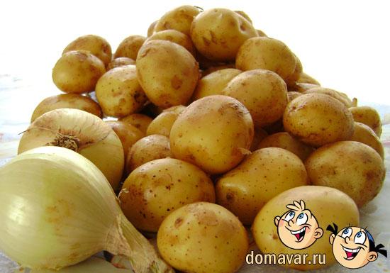 Картошка отварная и обжаренная в масле