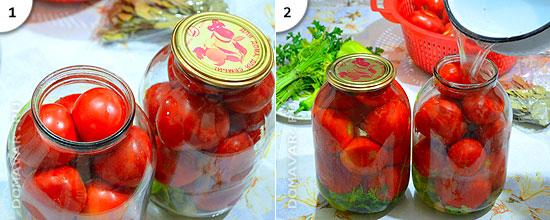 как приготовить помидоры на зиму рецепт