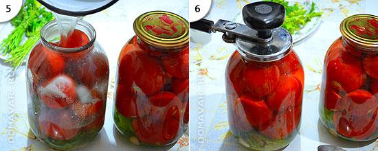 маринованные помидоры приготовление
