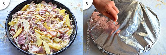 Рецепт запечённой свинины с картошкой