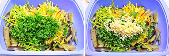 Приготовление салата из баклажанов