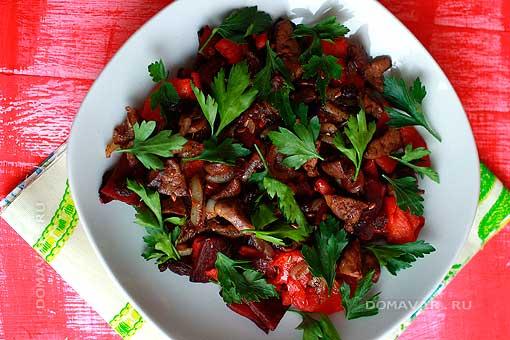 Тёплый салат в мультиварке рецепт