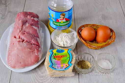 Отбивная состав продуктов