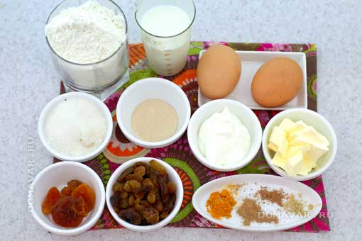 Ингредиенты для пасхального кулича