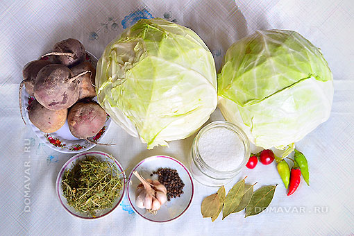 Продукты для закваски капусты