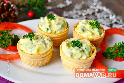 Тарталетки с плавленным сыром и икрой рецепты