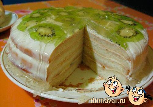 Как сделать пирог с киви