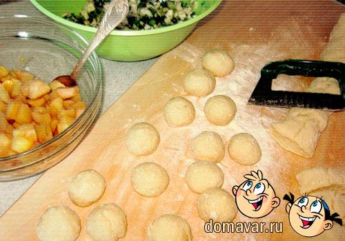 Пирожки жаренные из творожного теста