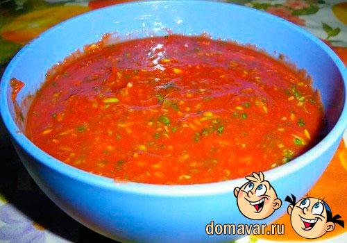 Томатный соус к мантам рецепт