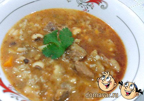 мясной суп с рисом рецепт