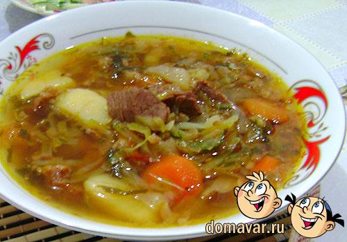 суп с тушенкой с капустой