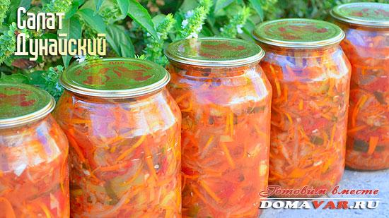 Рецепт салат дунайский на зиму