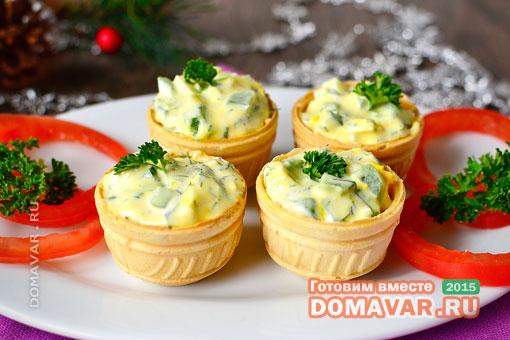 Тарталетки с плавленным сыром