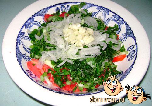 Овощной салат из свежих продуктов