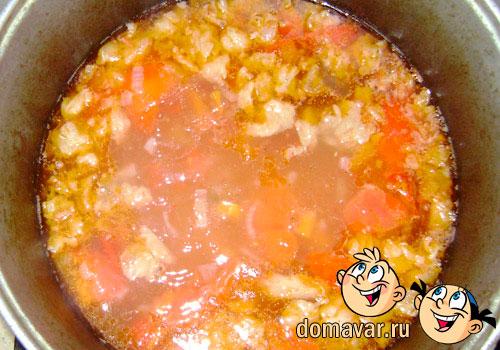 Суп с нутом (Кавурма шурва)