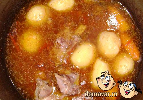 Наваристый суп из мяса и костей. Кайнатма шурпа