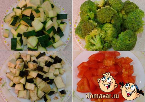 Овощное рагу из баклажан и цуккини