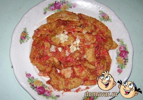 Закуска из кабачков в томатном соусе