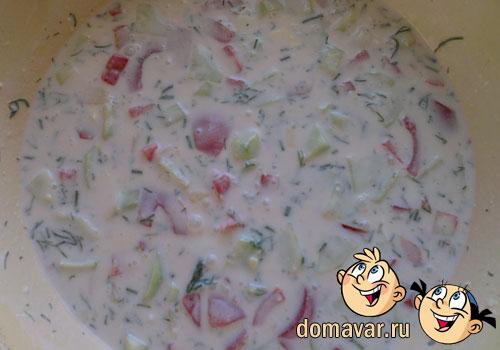 Холодный суп - Окрошка