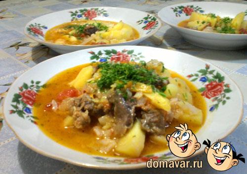 Жаркое с мясом и картошкой рецепт