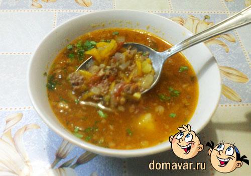 Витаминный суп с говяжьим фаршем