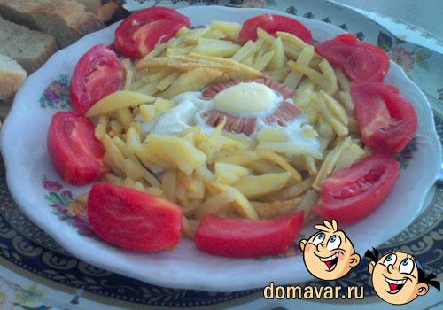 Картошка с яйцом на завтрак - утренний перекус