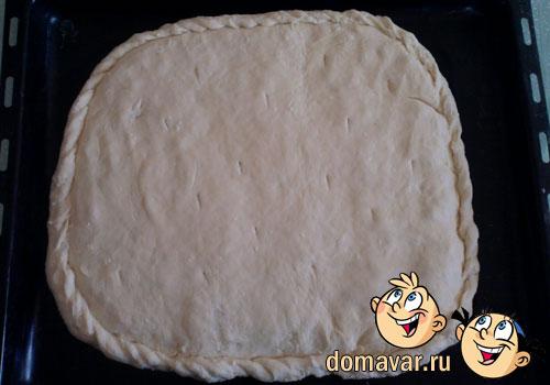 Быстрый и простой пирог с картофельной начинкой