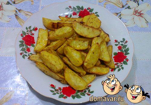 Картошка запечённая дольками в духовке