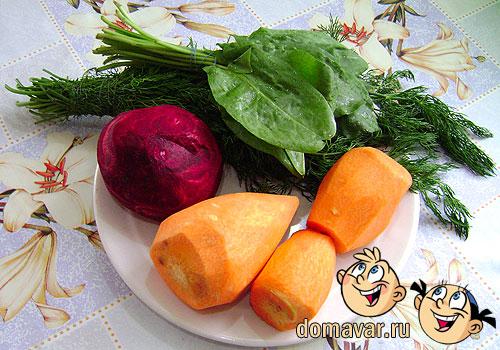Разноцветные манты с мясом и овощами