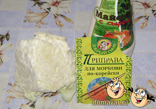 Самый простой салат из капусты с майонезом