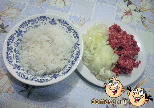 Пирожки с рисово-мясной начинкой