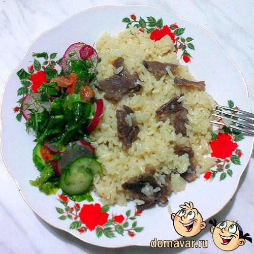 Рис с мясом - быстрый и простой рецепт