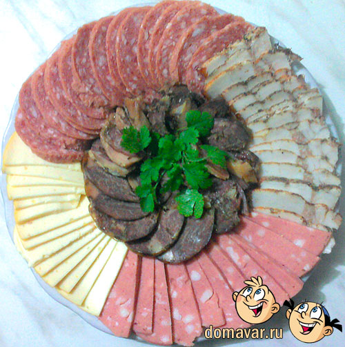 Мясное ассорти - вкусная мясная нарезка