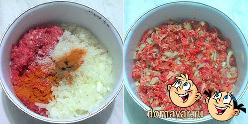 Репа фаршированная с мясом и рисом