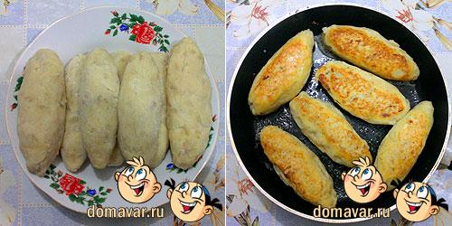 Картофельные котлеты с сосисками