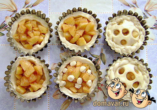 Яблочные мини пироги