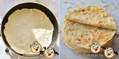 Армянский лаваш на сковороде в домашних условиях