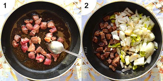 Картофельное пюре с мясной подливкой