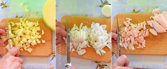 Слоёная самса с начинкой из тыквы