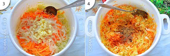 Острый салат из белокочанной капусты