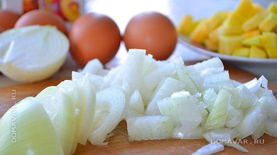 Пышный яичный омлет с тыквой